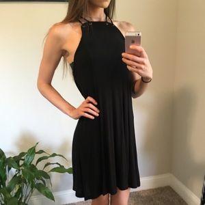 Black Flowy Dress - XS